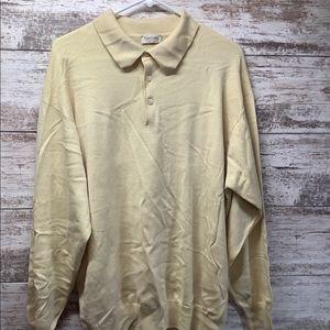 Gran Sasso - Long Sleeve Polo - Sz Large - Yellow